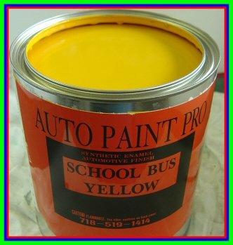 School Bus Yellow Acrylic Enamel Single Stage Restoration auto Paint kit