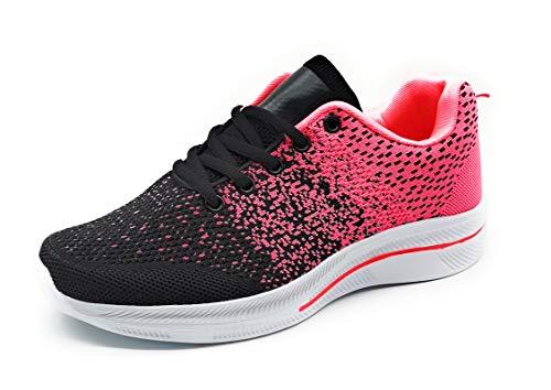 Zapatillas Deporte Mujer Muy Transpirables Deportivas Antideslizantes Bambas Ligeras Negro 39