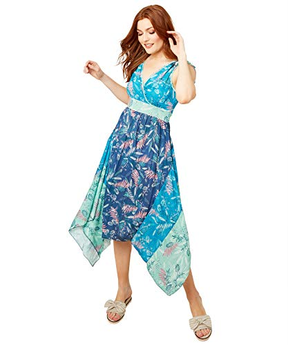 Joe Browns Vrouwen Casual Jurk Funky Floral Dress with Floaty Skirt