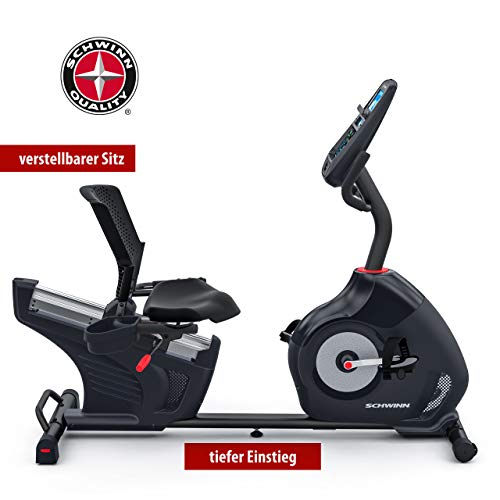 Schwinn Recumbent 570R Recumbent Bicycle 3.5 kg Flywheel RideSocial Compatible Schwinn Connect Dual Track Display Comfortable Seat and Supportive Seat Unit