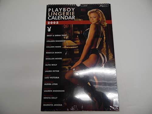 top 10 playboy lingerie calendar Playboy Lingerie Wall Calendar 2005 Rebecca Ramos, Ariya Wolf and more!  17 x 11