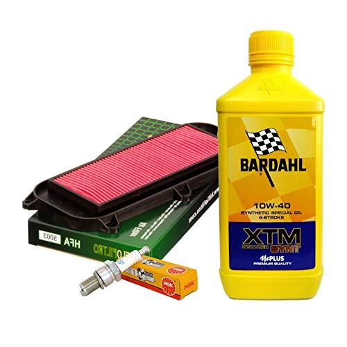 Kit tagliando Bardahl XTM 10W40 filtro aria candela Grand Dink 250 Xciting 300