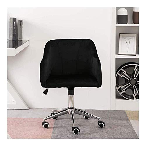 Living Equipment Beauty Chair Friseurstuhl Samt Bürostuhl Bequemer ergonomischer Schreibtischstuhl Drehbarer Computerstuhl mit Armlehnen Sitz mit niedriger Rückenlehne für das Home Office (Farbe: S