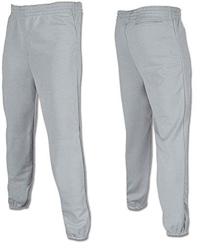 Joe's USA - Youth Baseball Softball Pull Up Pants-Grey-Large