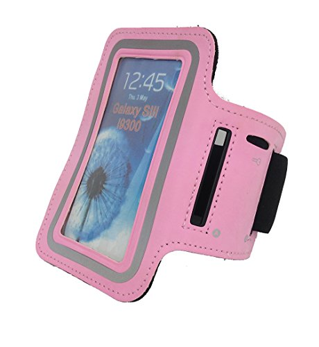 Tunturi roze telefoonarmband, één maat