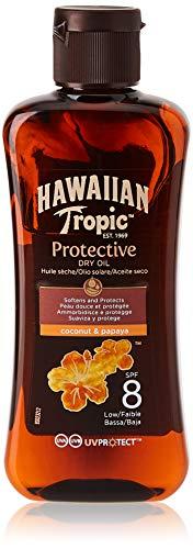 HAWAIIAN Tropic Tanning Oil Mini - Aceite Bronceador Solar Con Protección Spf 8, Acelerador Del Bronceado Con Fragancia Tropical, Formato Viaje 100 Ml
