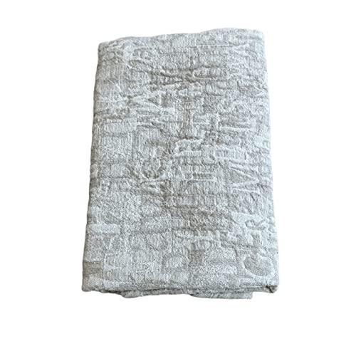 Toalla de baño 100% lino, 70 cm x 140 cm, gris, secado rápido, ultra absorbente
