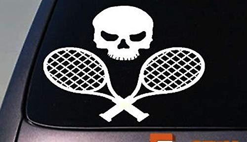CELYCASY Aufkleber für Tennisschläger, Tennisball, Schläger, Schläger, Tennisball, Tennisplatz, Netz, 15,2 cm