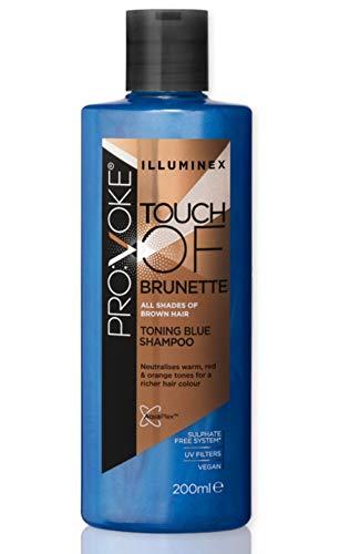 Blue Shampoo for Brassy Hair Brunette – Blue Toner Enhances Color Treated Hair and Balayage