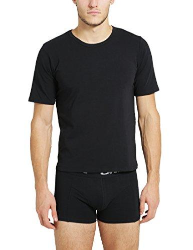 Ultrasport T-shirt homme ras du cou, noir, XXL, 1308-200