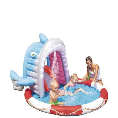 Centro de juegos inflable, remolcador de piscina inflable para niños | Juguete de verano para la piscina al aire libre para la diversión familiar | Juego de piscina y natación para niños 04