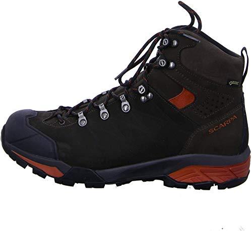 SCARPA ZG PRO GTX, Stivali da Escursionismo Alti Uomo, Dark Coffee-Rust Gore-Tex TRM Salix Trek, 44.5 EU