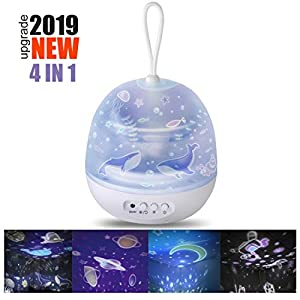 Lámpara de Proyector Estrellas, Lámpara de Noche 360 Grados ...