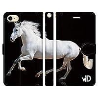 ブレインズ iPhone SE 第2世代 2020 iPhone8 iPhone7 兼用 手帳型 ケース カバー サラブレッド F 競馬 競走馬 乗馬