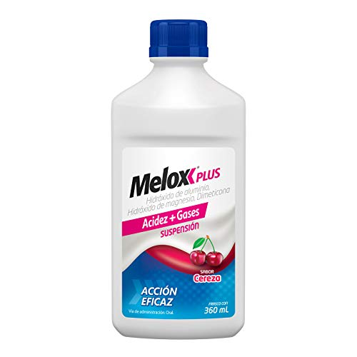 Melox Cereza antiácido y Antigas 360 ml