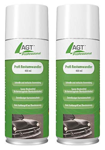AGT Professional Kfz-Rost-Entferner: Profi-Rostumwandler 2x 400 ml (Rostumwandler-Spray)