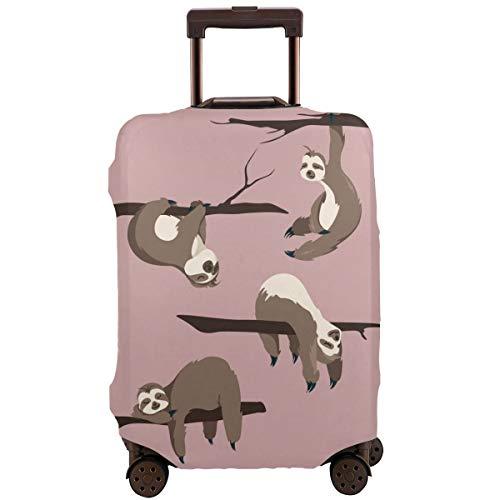 Foruidea Sloths Cartoon Animals Funda de Equipaje de Viaje para Equipaje de 18 a 32 Pulgadas