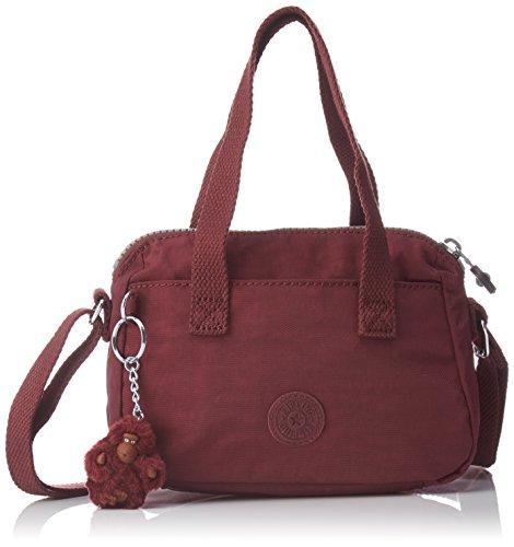 Kipling Leike, Bolso Bandolera para Mujer, Rojo (Crimson), 9.5x19.5x14 cm (B x H x T)