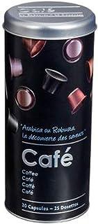 Boite alimentaire - Relief II - capsule - 7.8 x 17.8 cm - Fer et étain - Noir