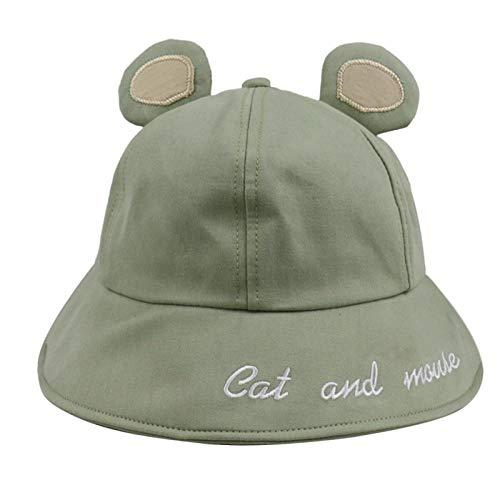 Bucket Hat Chapeau Mignon Jaune Rose Noir Oreilles De Chat Souris Seau Chapeaux Femmes Casquettes Vert
