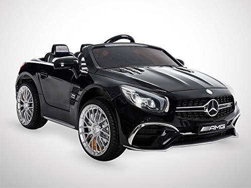 KINGTOYS - Auto elettrica per bambini, Mercedes SL 65 AMG, 70 W, colore: nero