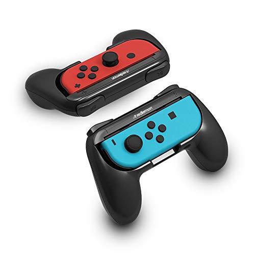 Redlemon Controles para Nintendo Switch Tipo Handle Grip para Joy-con (Paquete de 2 Piezas), Universales, Diseño Ergonómico, Fáciles de Colocar, Ajuste Perfecto, Resistentes, Portátiles