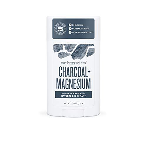 Schmidt's - Desodorante Natural en Barra Carbón y Magnesio Vegano - 75 g