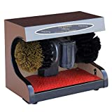Calzado eléctrico pulidor, zapatos automáticos de la máquina pulidora de zapatos Cepillo de limpieza Kit Multi cepillo pulidor adecuados for uso doméstico o público, de plata (Color: Oro) xuwuhz
