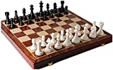 Juego de ajedrez de Madera con Piezas de ajedrez, Tablero de Juego Plegable con Almacenamiento, Juguetes de ajedrez para el Juego de ajedrez de cumpleaños (Color : B, Size : 52x52cm)