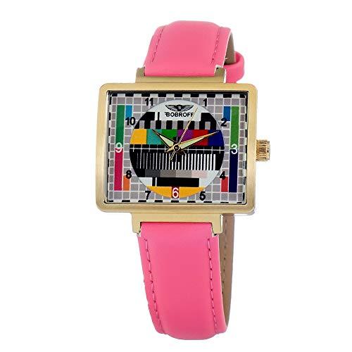 Bobroff Reloj Analog-Digital para Womens de Automatic con Correa en Cloth S0331049