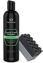 TriNova Plastic & Trim Restorer - Shines & Darkens Worn Out Plastic, Vinyl & Rubber Surfaces - Protects Cars & Motorcycles from Rain, Salt & Dirt - Prevent Fading - 8 OZ