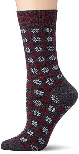 ESPRIT Damen Norwegian W SO Socken, Grau (Anthracite Melange 3081), 35-38 (UK 2.5-5 Ι US 5-7.5) (2er Pack)