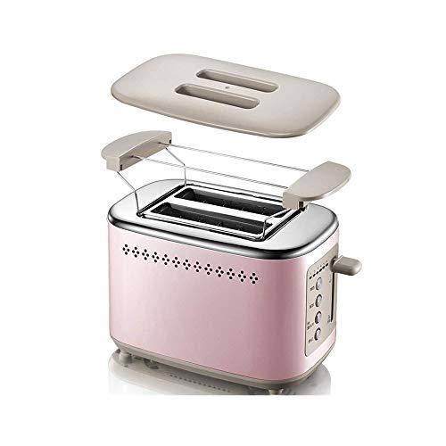 HIZLJJ 2 Slice Toaster Ranura Ancha Tostadora de 2 rebanadas Mejor Modo Calificación 6 al Horno for el Desayuno Pan molletes Hornos Tostadores de Menta Retro