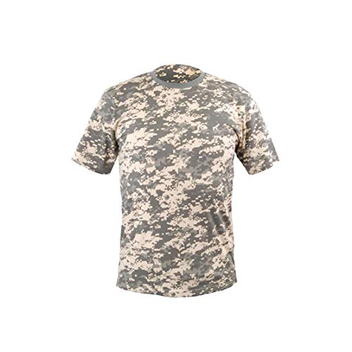 YDS T-Shirt en Coton à Manches Longues pour Hommes avec Poches - Outdoor - Militaire (XXL)