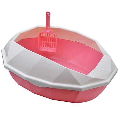JFYJP Ampliación de Arena for Gatos Caja Completamente Cerrado Gatos WC Tipo libreta Olor a Prueba de Salpicaduras y Gatos Prueba Cuenca Camada (Color : Rosado, Size : Gratis)