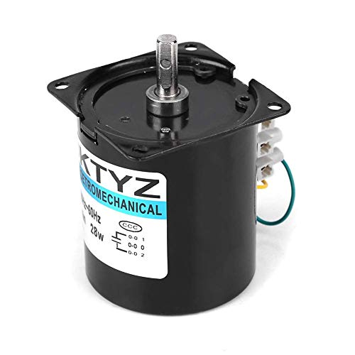 GUONING-L Getriebe-Motor, AC220V 50Hz ~ 60Hz Synchronmotor, Permanentmagnet-Synchrongetriebemotor for Instrument, Automation, Bühnenlampen 2.5RPM, 20rpm, 30rpm, 110RPM (110RPM) Werkzeuge