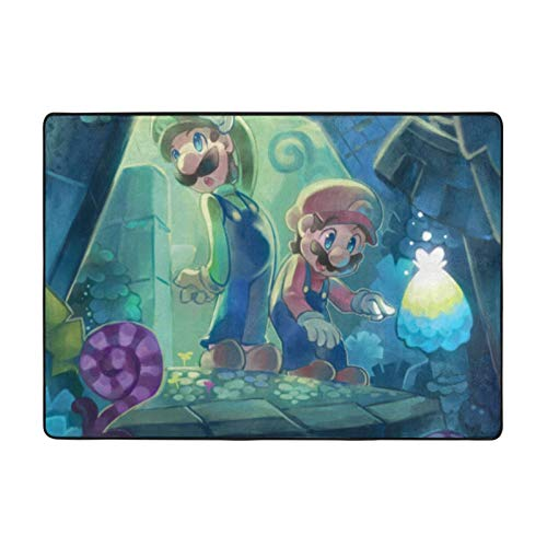 Super Smash Bros Mario Forest Super Soft Area Carpet Kids Living Room Boys Girls Room Area Rug Nursery Home Decor Carpet 84 X 60 Inches