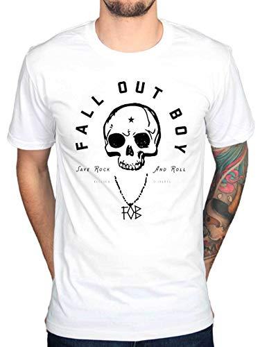 Official fall out boy headdress skull t-shirt pop rock band indie