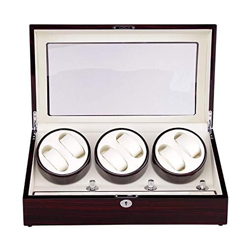 JYTFZD HAOYANG-Caja de Reloj- Reloj de Madera de Deluxe Binder automático 6 + 7 Winder o 13 Relojes Spinning Watch Box/HDDSBYBQ-1175
