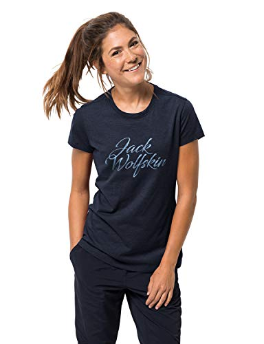 Jack Wolfskin T-Shirt de Marque pour Femme XS Bleu Nuit