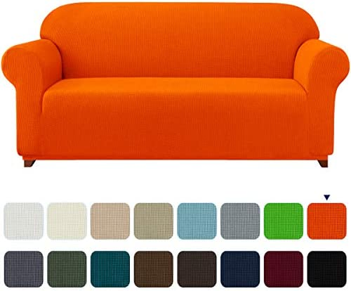 Best subrtex Stretch Sofa Cover 1-Piece Couch Slipcover Furniture Protector for Arm Chair Loveseat Coat S