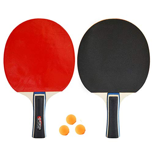 Read About Way bocke Table Tennis Racket 2-Player Set, 2 Paddles/Rackets, 3 Quality Ping Pong Balls,...
