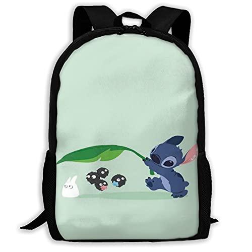 Cute Stitch1 - Mochila para libros escolares, con hombro acolchado ajustable, para mujeres, hombres, niñas y niños