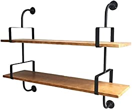 Home decoration display rack/Racks Industrial Wind Wrought Iron Wall Hanging Bookshelf Creative Bookcase Word Partition So...