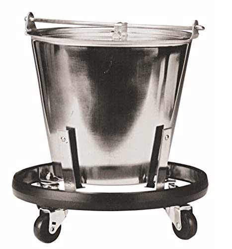 For Sale! Graham-Field 3267 Stainless Steel Kick Bucket and Stand Set, 11-5/8 D x 9-1/4 H, 12-1/2 ...