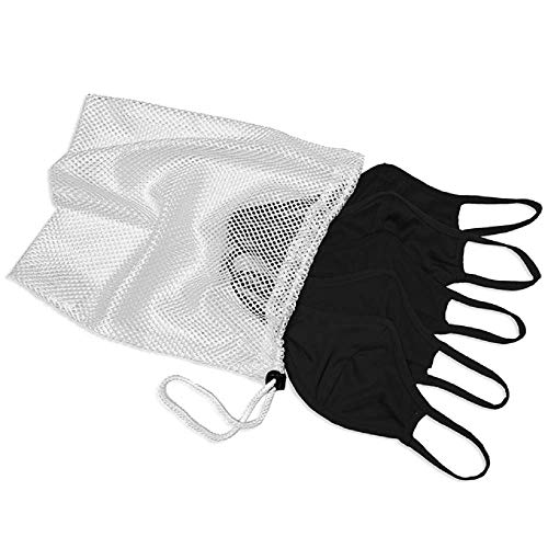 (5 Pack) Black 3-Ply Face Mask Adult S/M