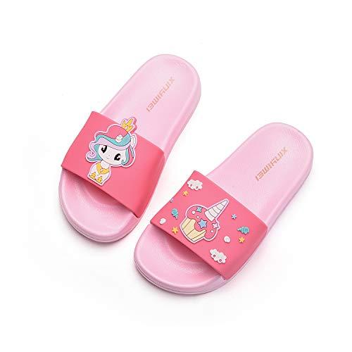 HommyFine Zapatos de Ducha, Playa y Piscina Sandalias de Baño Antideslizantes Sandalias de Unicornio Princesa Celestia para niños y niñas