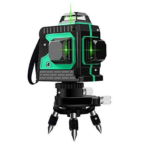 LANTELSHANO Láser De Nivel Verde, Haz De Nivel De Impulsos Transversal 8-Línea Automática Anping Botón Táctil IP54 Agua Y Al Polvo Adecuado para Interior Y Exterior