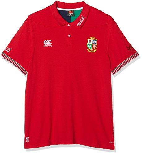 Canterbury Herren Poloshirt Vapodri, British and Irish Lions, Trainings-Poloshirt S Rot - Tango Red