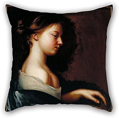 N\A Pintura al óleo Mary Beale - Retrato de una niña Fundas de Almohada navideñas La Mejor opción para la Oficina Niños Niñas Comedor Sofá Su sofá con Dos Lados